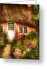 Summer - Cottage - Little Pink Play House Greeting Card by Mike Savad