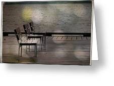 Summer Dock Waterfront Fine Art Photograph Greeting Card by Laura  Carter