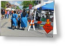 Summer Festival in Berne Indiana II Greeting Card by Suzanne Gaff