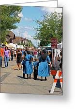 Summer Festival In Berne Indiana Greeting Card by Suzanne Gaff