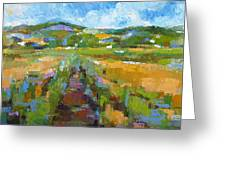 Summer Field 1 Greeting Card by Becky Kim
