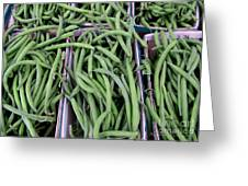 Summer Green Beans Greeting Card by Kathie McCurdy