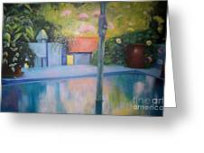 Summer On The Deck Greeting Card by Marlene Book