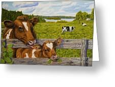 Summer Pasture Greeting Card by Veikko Suikkanen