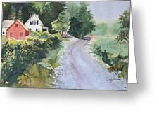 Summer Road Greeting Card by Joy Nichols