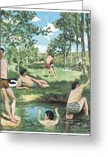 Summer Scene Greeting Card by Frederic Bazille