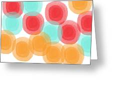 Summer Sorbet- Abstract Painting Greeting Card by Linda Woods