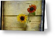 Summer Sunflowers Greeting Card by Sari Sauls