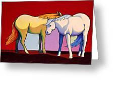 Summer Winds - Mustangs Greeting Card by Joe  Triano