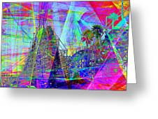 Summertime At Santa Cruz Beach Boardwalk 5d23930 Square Greeting Card by Wingsdomain Art and Photography