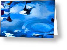 Summertime Blue Greeting Card by Robyn King