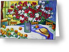 Summertime Table Greeting Card by Gunter  Hortz