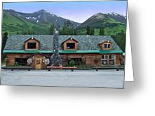 Summit Lake Lodge Alaska Greeting Card by Aimee L Maher Photography and Art