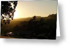 Sun Down Greeting Card by Shawn Marlow