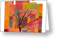 Sun In The City - Abstract - Art Greeting Card by Ann Powell