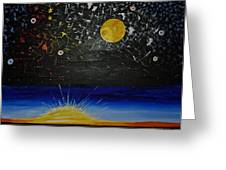 Sun Moon And Stars Greeting Card by Donna Blossom