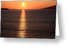 Sun Path Greeting Card by Aidan Moran
