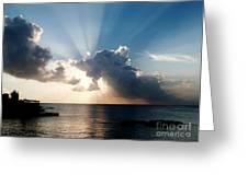 Sun Rays Greeting Card by Amar Sheow