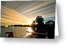 Sun Rays And Wind Streams Greeting Card by Matt Molloy