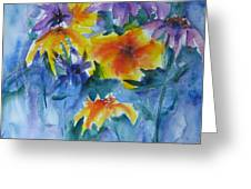 Sun Splashes Greeting Card by Anne Duke