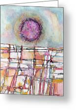 Sun And City Greeting Card by Hari Thomas
