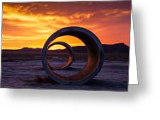 Sun Tunnels Greeting Card by Peter Irwindale