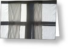 Sun Up Through Luke's Curtains Greeting Card by Anna Villarreal Garbis