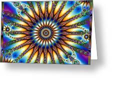 Sun Wheel 2 Greeting Card by Elizabeth McTaggart