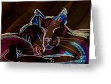 Sunbeam Cats Greeting Card by Michelle Wolff