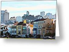 Sunday at Marina Green Park Fort Mason San Francisco CA Greeting Card by Artist and Photographer Laura Wrede