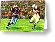 Sunday Football Greeting Card by Mario  Perez