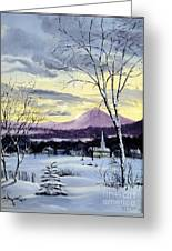 Sunday In Winter Greeting Card by Lee Piper