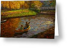 Sunday On Avon Greeting Card by Terry Perham
