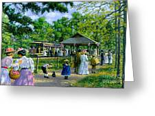 Sunday Picnic Greeting Card by Michael Swanson