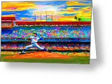 Sunday With Sandy Greeting Card by Alan Greene