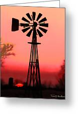Sundown Greeting Card by Terril Heilman