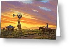 Sundowner Greeting Card by Paul Krapf