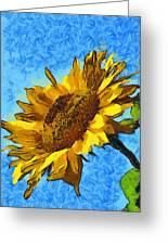 Sunflower Abstract Greeting Card by Unknown
