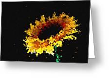 Sunflower Greeting Card by Ann Powell