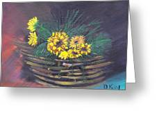 Sunflower Basket Greeting Card by The GYPSY And DEBBIE