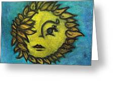 Sunflower Child Greeting Card by Natalie Roberts