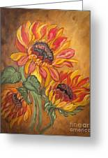Sunflower Enchantment Greeting Card by Ella Kaye Dickey