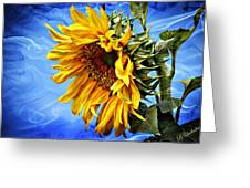 Sunflower Fantasy Greeting Card by Barbara Chichester
