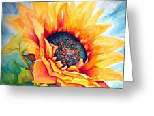 Sunflower Joy Greeting Card by Janine Riley