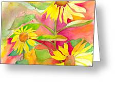 Sunflower Greeting Card by Kelly Perez