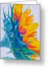 Sunflower Profile Impressionism Greeting Card by Heidi Smith