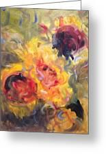 Sunflower Selebrations Greeting Card by Karen Carmean