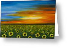 Sunflower Sunset - Flower Art By Sharon Cummings Greeting Card by Sharon Cummings