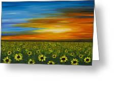 Sunflower Sunset - Flower Art By Sharon Cummings Greeting Card by Sharon Cummings