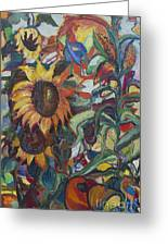 Sunflowers Greeting Card by Avonelle Kelsey
